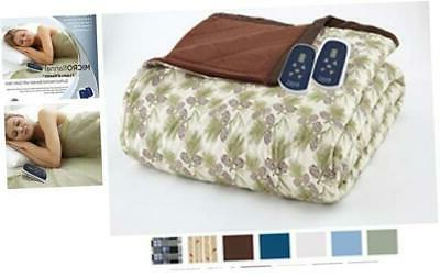 thermee micro flannel electric blanket pinecone twin