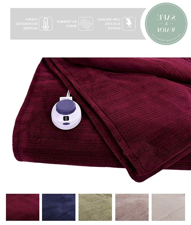 ultra soft plush electric heated warming blanket