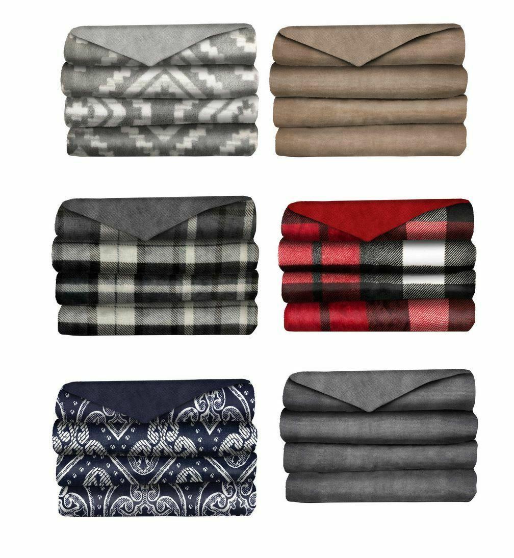 velvet plush electric heated throw blanket select