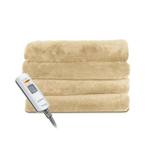 velvet plush heated throw blanket