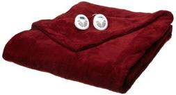 Sunbeam Heated Blanket | LoftTec, 10 Heat Settings, Garnet,