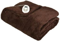 Sunbeam Heated Blanket | LoftTec, 10 Heat Settings, Walnut,