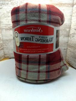Sunbeam Lush Fleece Warming Throw with Thermofine Warming Sy