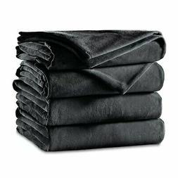 Sunbeam Luxurious Velvet Plush King Heated Blanket with 20 H