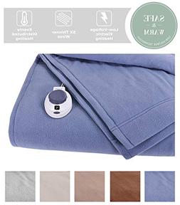 Soft Heat Luxury MicroFleece Low Voltage Electric Heated Bla