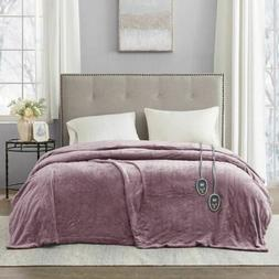 Luxury Solid Lavender Electric Heated Plush Year Round Blank