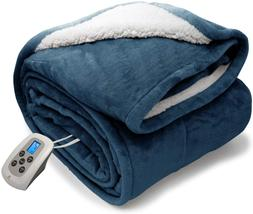 MARQUESS Electric Blanket Micro Plush Sherpa and Reversible