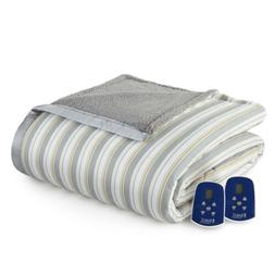 Micro Flannel Reverse To Sherpa Electric Heated Blanket Soft