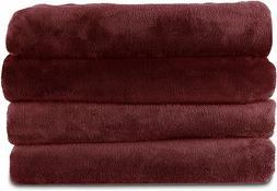Sunbeam Microplush Electric Heated Throw Blanket, Garnet