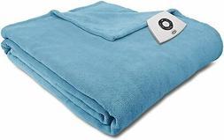 Serta Microplush Electric Heated Warming Blanket Queen Bay B