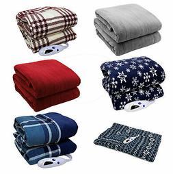 Biddeford Microplush Electric Heated Warming Throw Blanket D