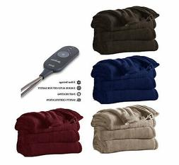 Sunbeam Microplush Electric Heated Warming Throw Blanket TB1