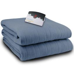 microplush twin electric blanket denim