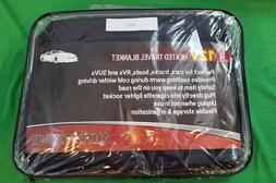NEW,12 Volt Heated Electric Car Fleece Travel Blanket Throw