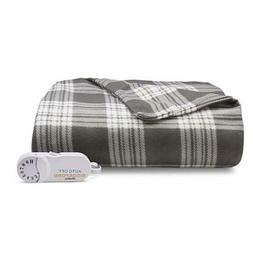 NEW Biddeford Gray Cream with Burgundy Red Plaid Electric He
