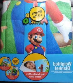 New Super Mario Kids Weighted Blanket Super Soft Plush Beddi