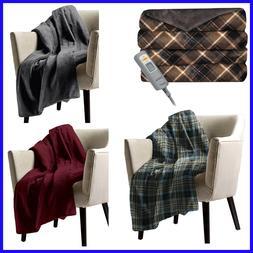 """Sunbeam Velvet Plush Heated Throw, Blanket,  50"""" x 60"""""""