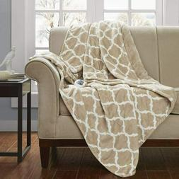 Beautyrest - Plush Heated Throw Blanket – Secure Comfort T