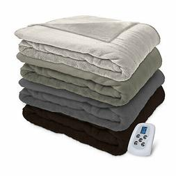 Serta Perfect Fit Silky Plush Electric Heated Warming Blanke
