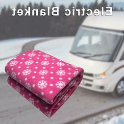 Portable DC 12V Electric Heated Blanket Winter Warm Quilt Fo