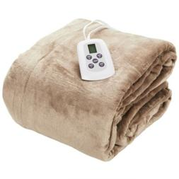 Westerly Queen Size Microplush Electric Heated Blanket with