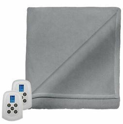 Perfect Fit Serta Fleece Electric Heated Warming Blanket Twi