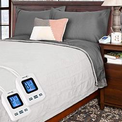 SimplyWarm Electric Heated Polar Fleece Blanket with Sensor-