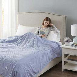 Beautyrest Soft Microfleece Electric Heated Blanket, Twin, B