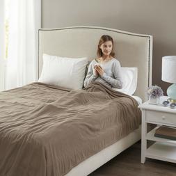 Beautyrest Soft Microfleece Electric Heated Blanket, Queen,
