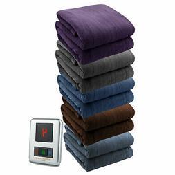soft microplush electric heated warming blanket digitalpod