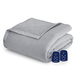 Shavel Home Products Thermee Electric Blanket, Queen, Slate