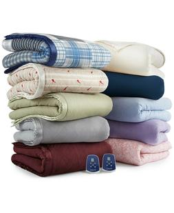Shavel Twin Heated Electric Blanket Micro Flannel 7 Layers O