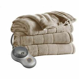 Twin Size Electric Heated Fleece Blanket Cozy Warm Extra-sof