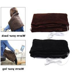USB Soft Heated Shawl Winter Electric Warm Neck Shoulder Hea