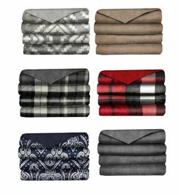 Sunbeam Velvet Plush Electric Heated Throw Blanket Select Co