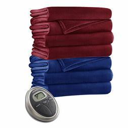 Sunbeam Velvet Plush Electric Heated Warming Blanket SC7