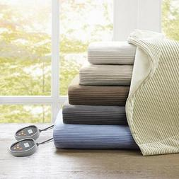 Beautyrest Washable Micro Fleece Luxury Electric Blanket Que