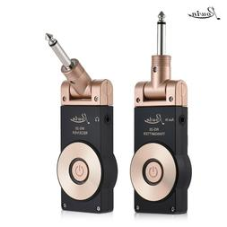 Wireless Electric Guitar Transmitter Receiver Set Rechargeab